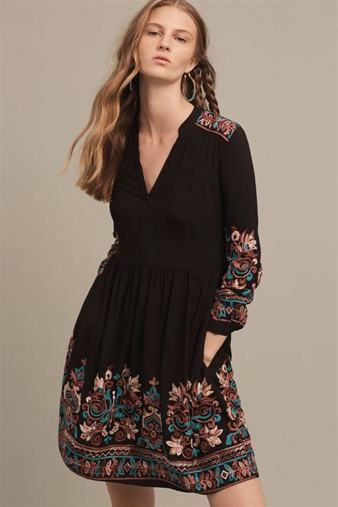 Embroidered Dress embroidered avery dress anthropologie