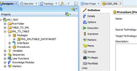 xml tutorial oracle oracle data integrator tutorials reading from xml file in