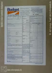 Budget Car Rental Agreement Form Offset Printing Self Copying Forms
