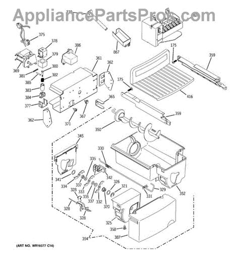 ge refrigerator maker parts diagram refrigerators parts maker parts