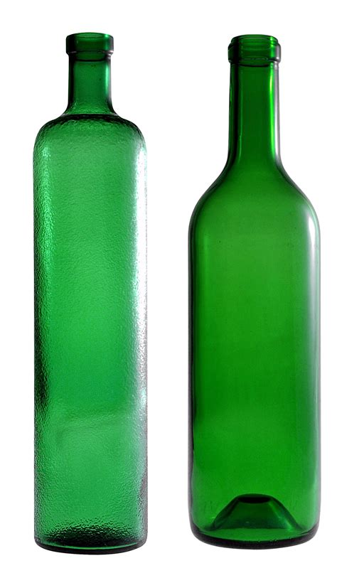 Glass Kitchen Canister Set empty green glass bottle png image