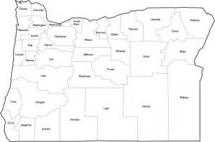 oregon county map with names