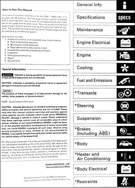 service manual pdf 1999 acura cl repair manual 1999