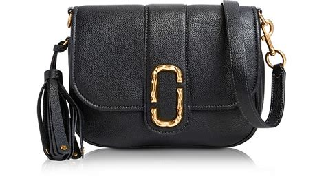 Marc Interlock Crossbody marc black pebbled leather interlock small courier crossbody bag at forzieri canada
