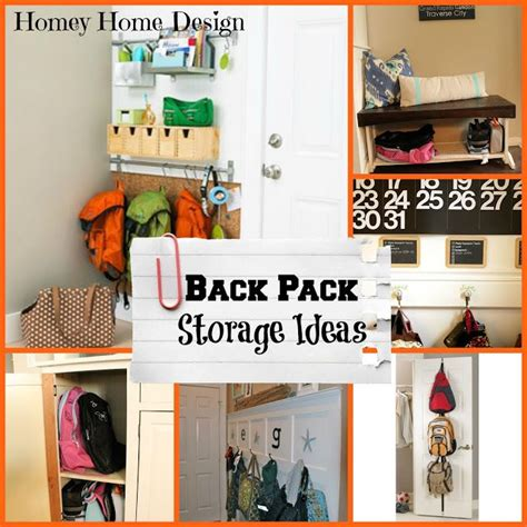 backpack storage ideas back to school organization part 2 ideas for backpack