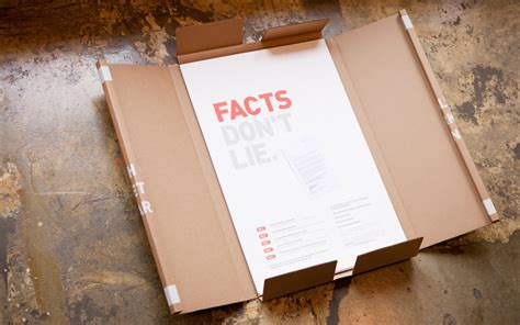 poster package layout fpo quot facts don t lie quot poster package