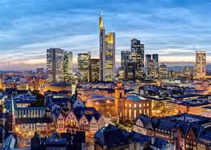 City skyline frankfurt am main hessen germany europe by gavin