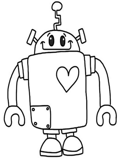 coloring pages for robot pictures of robots to color coloring home