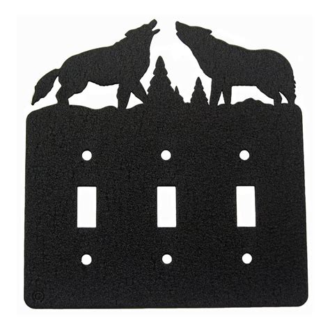 triple light switch cover howling wolves triple light switch plate cover