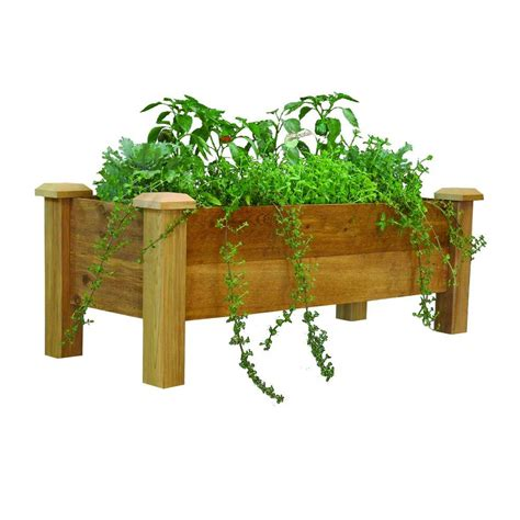gronomics      rustic cedar planter box rpb