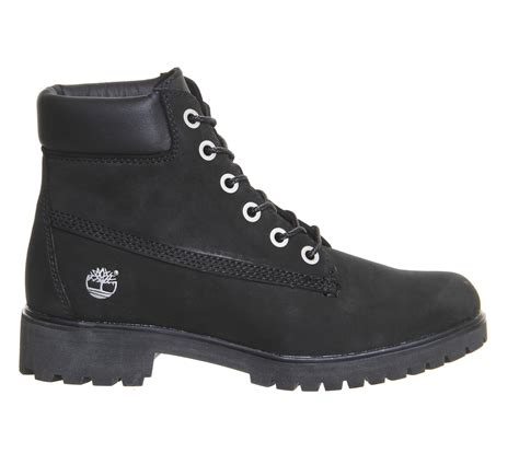 timberland boots for black timberland slim 6inch premium boots in black lyst