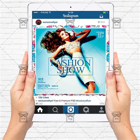 Fashion Show Premium Flyer Template Instagram Size Flyer Exclsiveflyer Free And Premium Instagram Ad Template Psd
