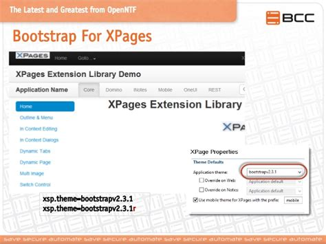 bootstrap themes for xpages the latest and greatest from openntf and the ibm social
