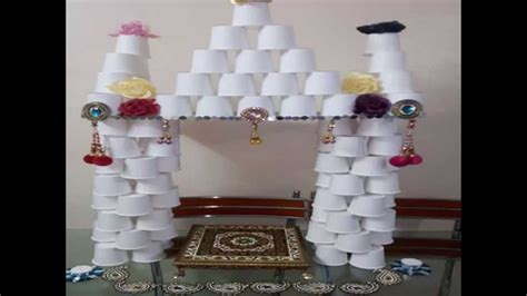 easy to make home decorations easy home made ganapati decoration youtube