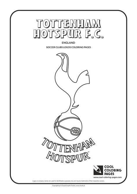 tottenham hotspur f c logo coloring page cool coloring