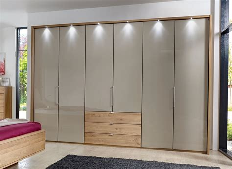 Wardrobe Bi Fold Doors by Stylform Selene 150cm Solid Oak Glass Wardrobe Head2bed Uk