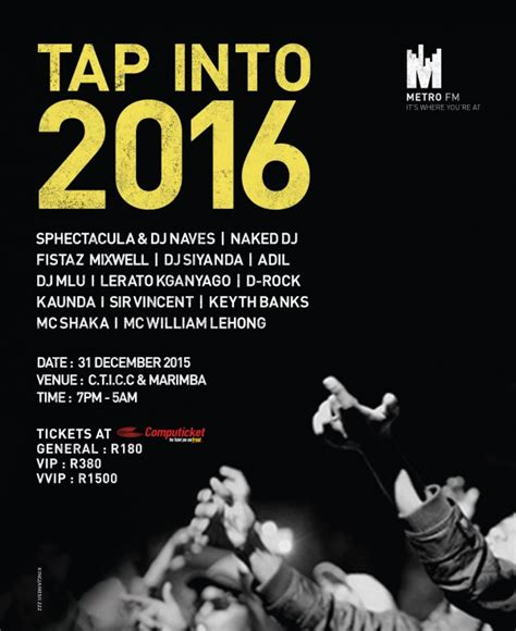 Töff Events by Metro Fm Nye Party Tap Into 2016 Metrofm