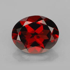 Ruby 10 90 Ct A 7 pyrope garnet 3 1 carat oval from mozambique and