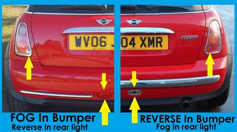 led bumper backup lights smoked tinted led rear lights for bmw mini one cooper s