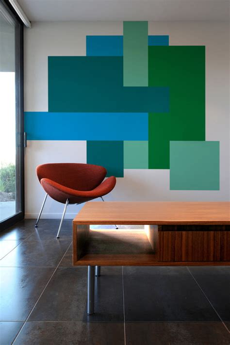 color blocking wall decals by mina javid for blik geometric wall wall decals and walls