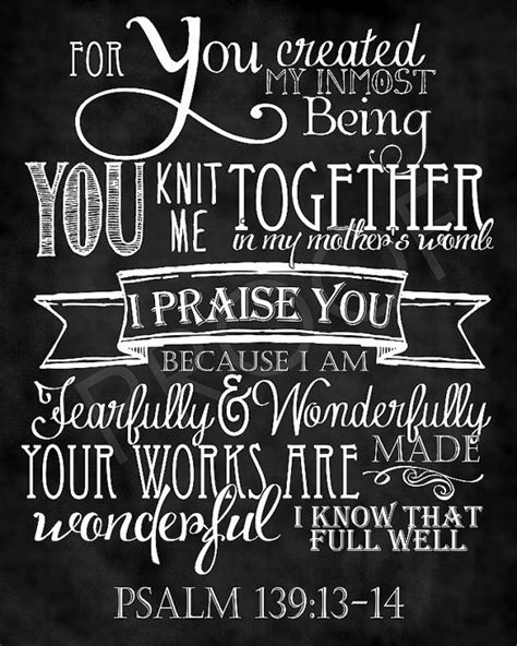 fearfully and wonderfully made my journey to self worth books scripture psalm 139 13 14 chalkboard style psalms