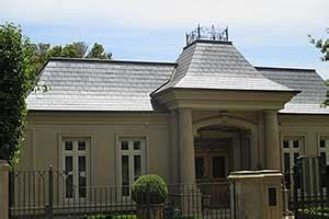 slate roofing french provincial style home in balwyn skylights accents and accessories for slate roofs