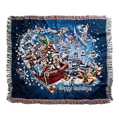 disney throw blanket holiday mickey mouse  friends