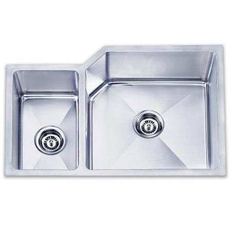 36 Inch Kitchen Sink Lada Ld3020l Undermount 36 Inch Offset Bowl Kitchen