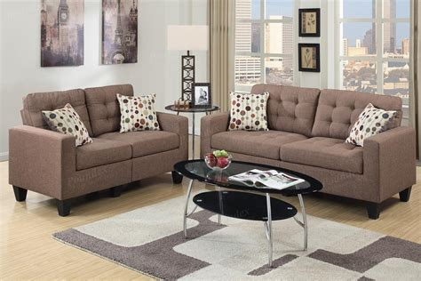 brown fabric sofa set poundex acy f6904 brown fabric sofa and loveseat set