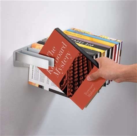 concealed floating bookshelves