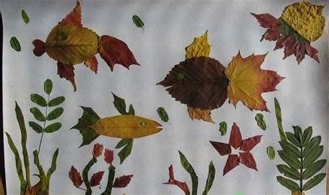 autumn craft projects leaf collage pictures animalarium david mclimans a