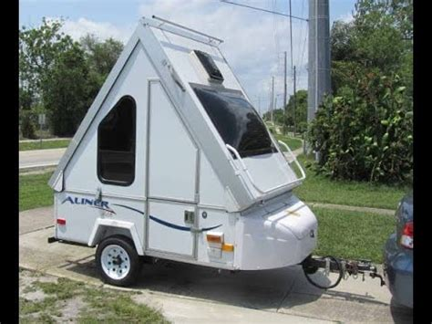 Aframe Homes by Aliner Alite Smallest Motorcycle Camper Trailer Youtube