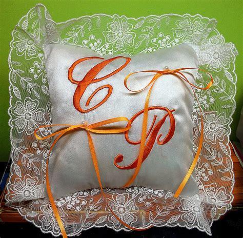 cuscino fedi punto croce cuscino fedi cuscinetto portafedi organza ricamo