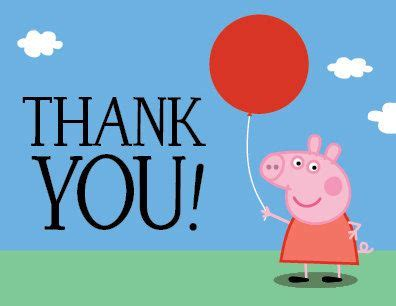 Peppa Pig Thank You Card Template by Peppa Pig Birthday Thank You Card Printable Pdf