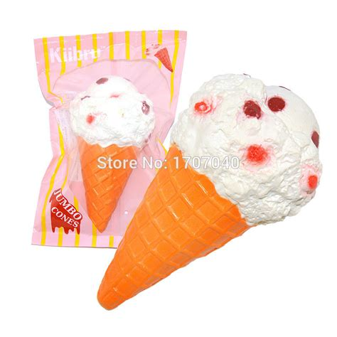 12 pcs lot kiibru jumbo white cone squishy scented rising soft original
