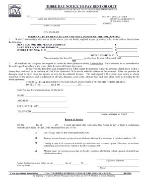 21 Printable Late Rent Notice Template Forms Fillable Sles In Pdf Word To Download Pdffiller Three Day Notice Template