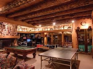 log home game room decor ski house of the day park city mansion