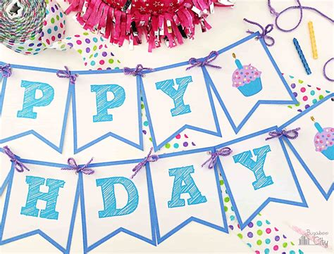 make a printable birthday banner happy birthday banner bugaboocity