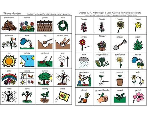 Gardening Verbs Garden Vocabulary Set