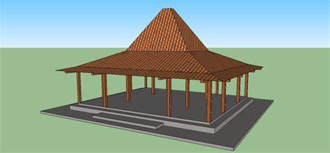 Nilai2 Arsitektur Rumah Tradisional Jawa sketsa sederhana rumah joglo