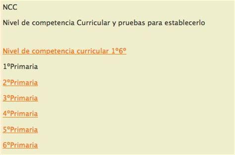 pruebas de evaluacin de la competencia curricular pruebas nac y pruebas diagn 211 sticas aula pt