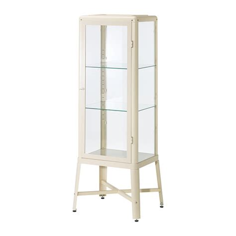 Ikea Cabinet Shelf Fabrik 214 R Glass Door Cabinet Beige Ikea