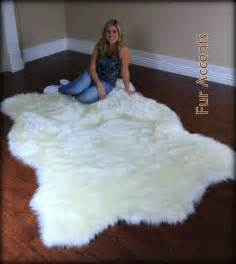 White Fur Area Rug Large 8ft Polar Accent Rug Faux Fur By Furaccents 289 95 Carpets