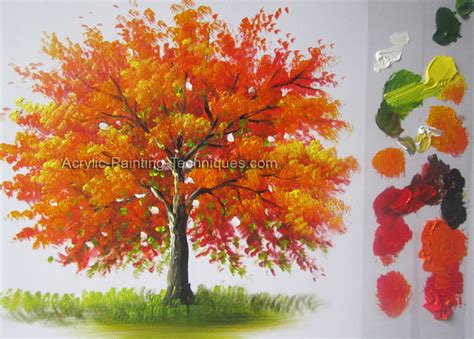 acrylic paint tree trees acrylic painting techniques