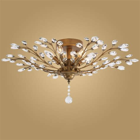 Modern Crystal Ceiling Light Fixtures For Bedroom Kitchen Ceiling Light For Large Living Room