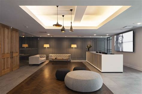 warm design a modern but warm office reception design by office ao
