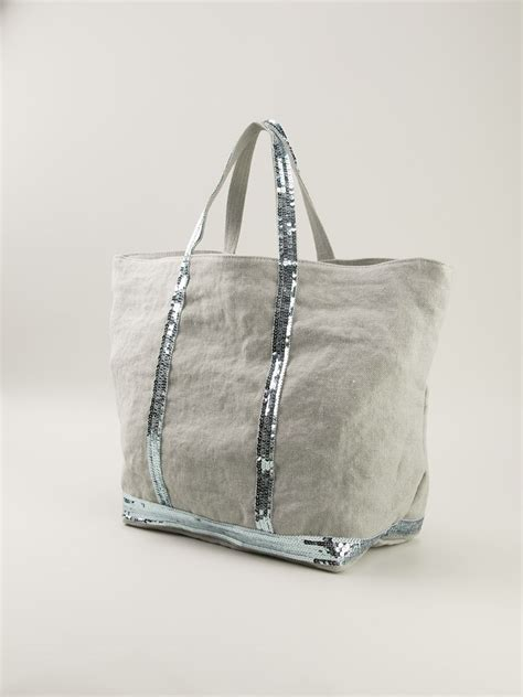 Bruno Athe Slouchy Tote by Bruno Sequins Details Tote Bag In Gray Lyst