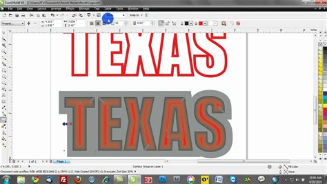 tutorial lettering coreldraw corel draw training video tutorials contours text effects