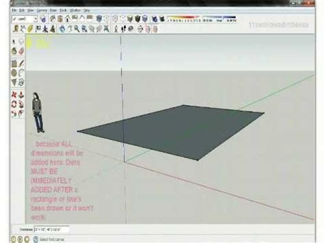 sketchup layout rectangle dimensions google sketchup tutorials line and rectangle youtube