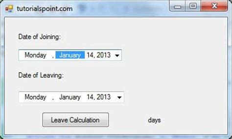 tutorialspoint vba pdf vb net datetimepicker control